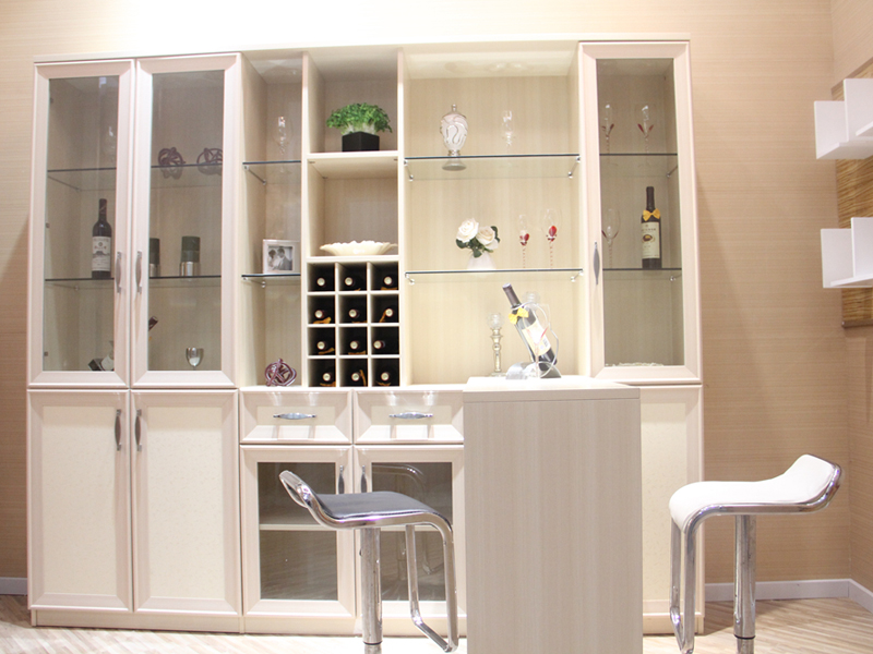 鞋柜书柜一体图
