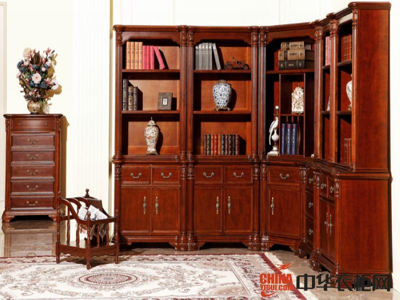 雷克蒙顿衣柜雷克蒙顿衣柜转角书柜装饰效果图美式风格