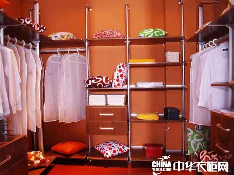 柜美世衣柜实木衣帽间装饰效果图现代简约