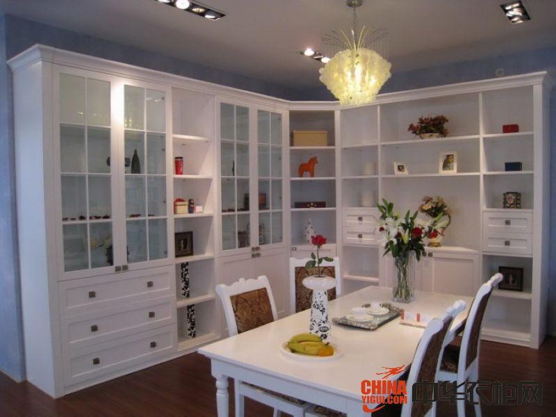 居衣柜欧式整体书柜装饰效果图欧式风格