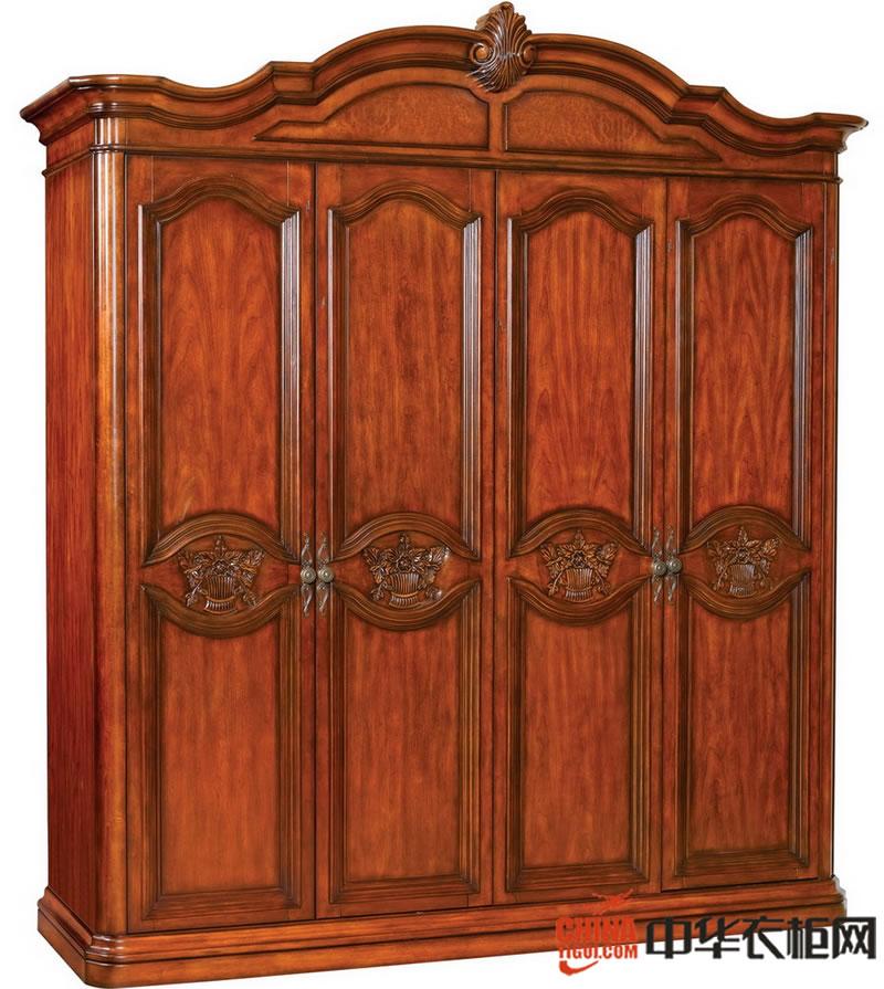 美式实木风格衣柜效果图