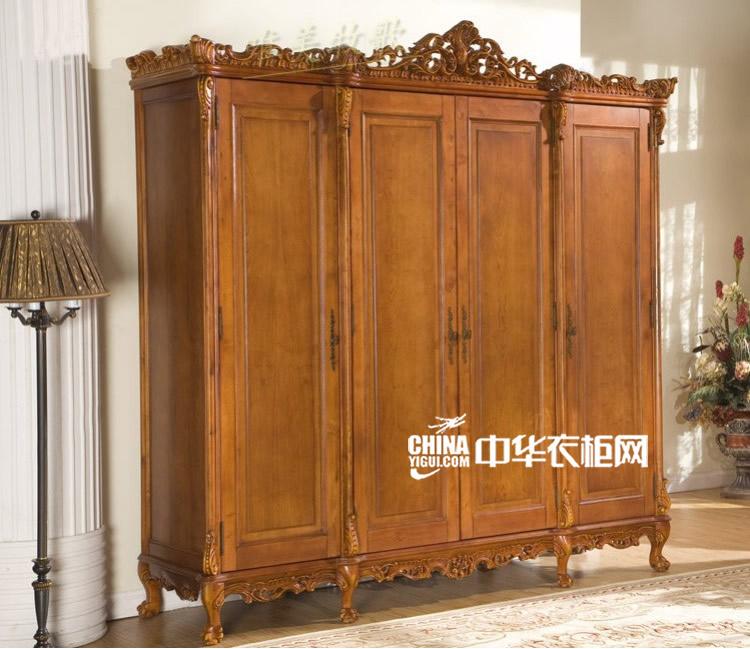 欧式风格实木衣柜 尽显古典大气