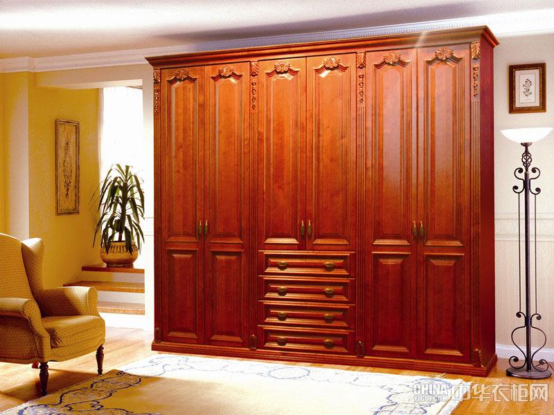 简欧风格衣柜设计图 纯香实木衣柜效果图