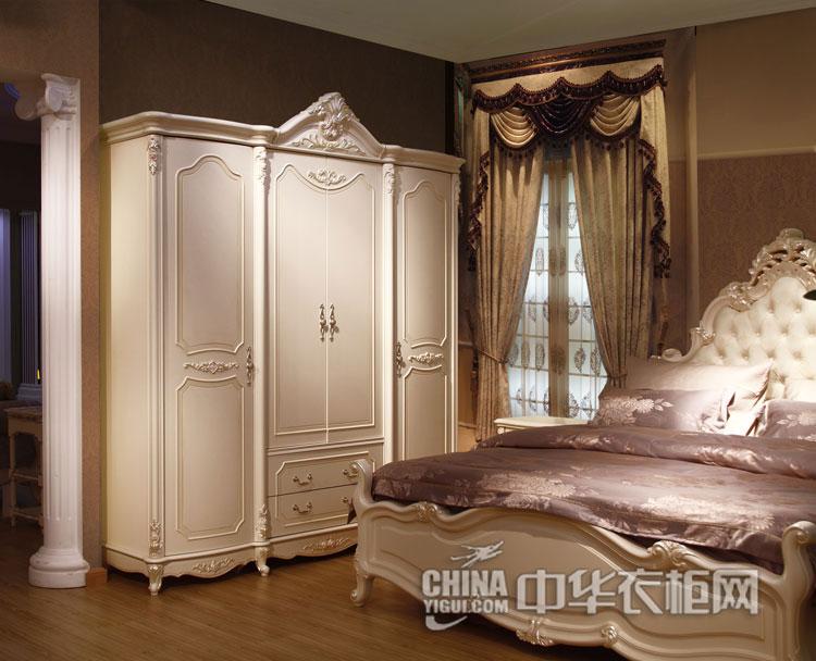 唯美的欧式雕花衣柜效果图