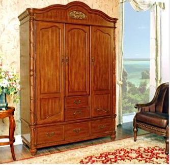 实木整体衣柜效果图