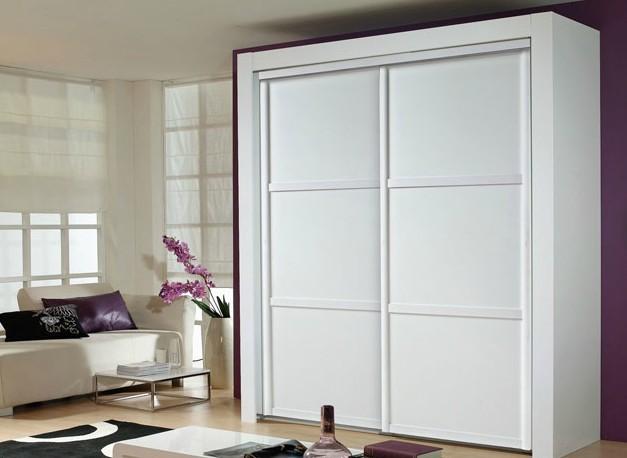 白色两门整体衣柜设计图