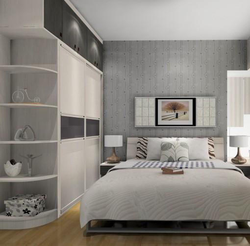 卧室短款转角窗帘
