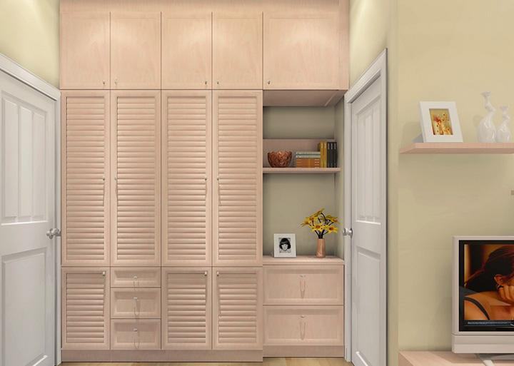 田园风格客厅拐角衣柜