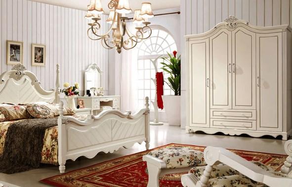 象牙白四门衣柜设计图