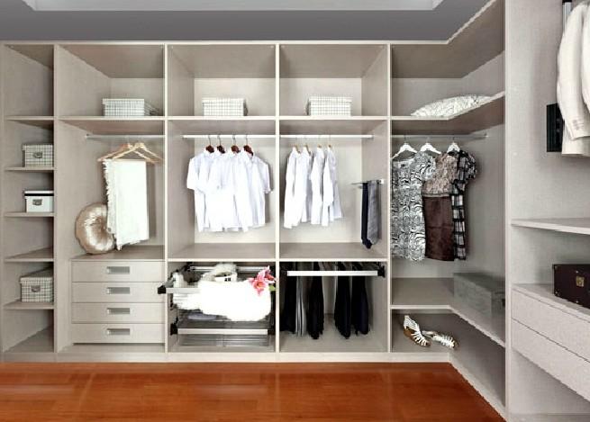 现代转角衣柜效果图 敞开式衣柜设计图