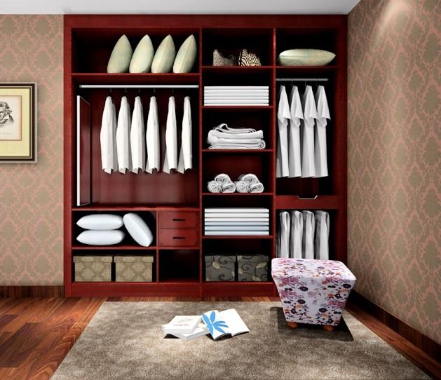 代时尚中式整体衣柜图片 敞开式衣柜效果图
