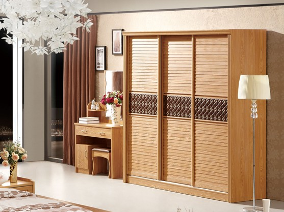 三门整体衣柜效果图 现代中式衣柜 设计图