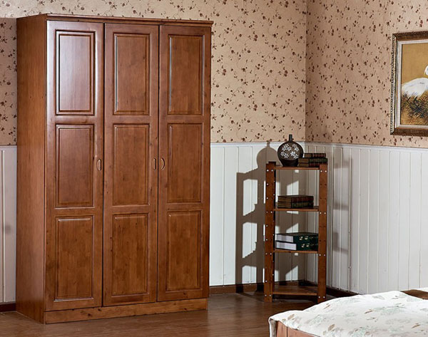 新中式风格效果图 全实木大衣柜设计图