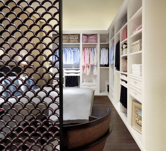 独立式衣柜设计图 欧式象牙白衣柜效果图