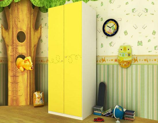 儿童情景房衣柜设计图 简约衣柜效果图