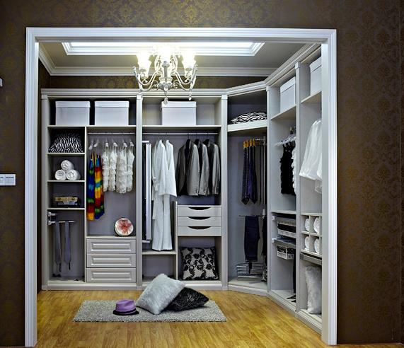 步入式衣柜设计图 欧式衣柜设计图