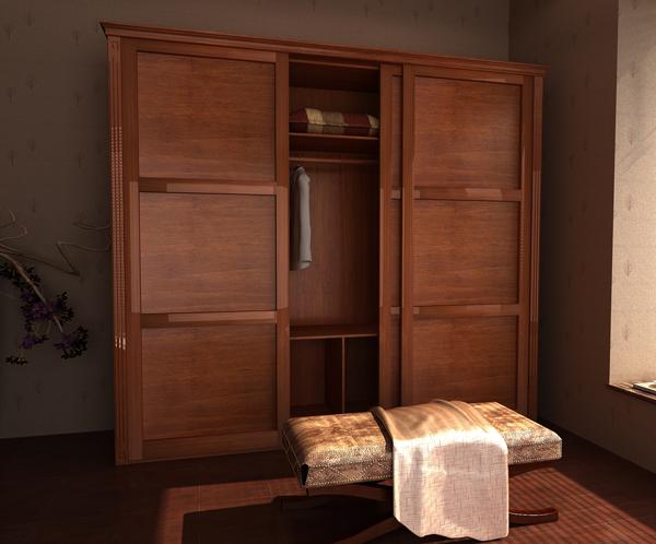 欧式移门衣柜设计图 典雅庄重衣柜效果图