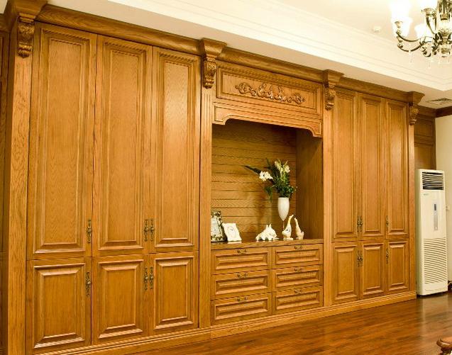 美式卧室衣柜效果图 全实木衣柜设计图