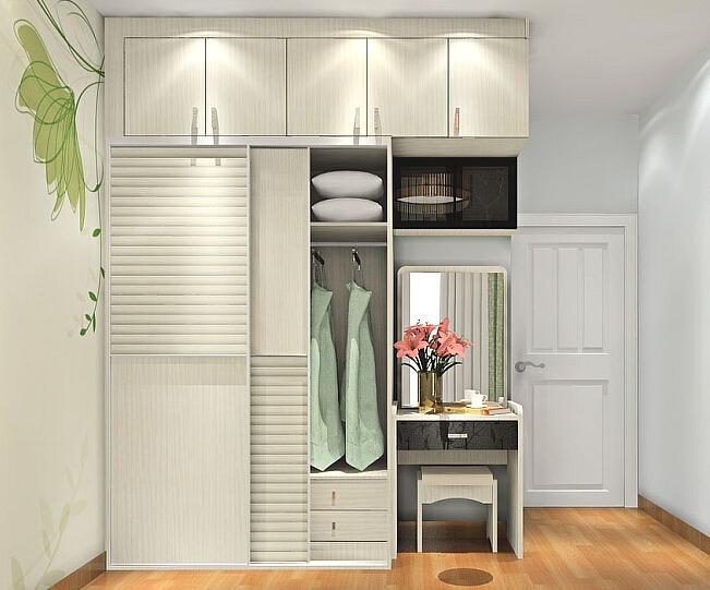 现代组合衣柜效果图 打造夏日清凉舒适家
