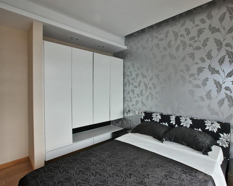 現代簡約風格衣柜圖片 110㎡兩居室現代簡約風格臥室