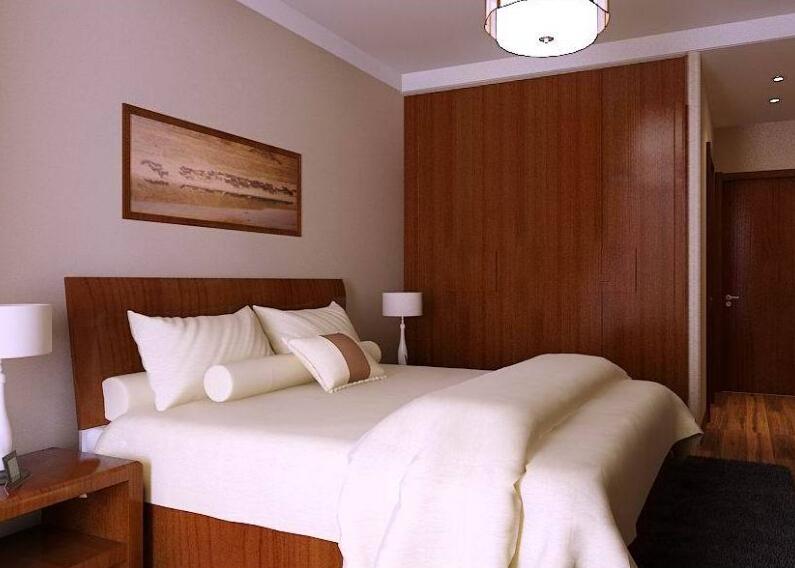 新中式衣柜效果圖,本現代簡約設計搭配大膽顏色及材質變化,使室內