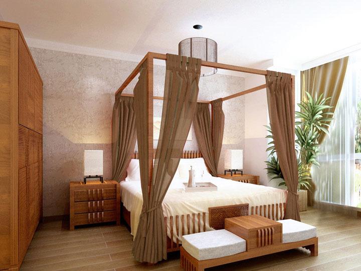 新中式风格卧室衣柜装修图