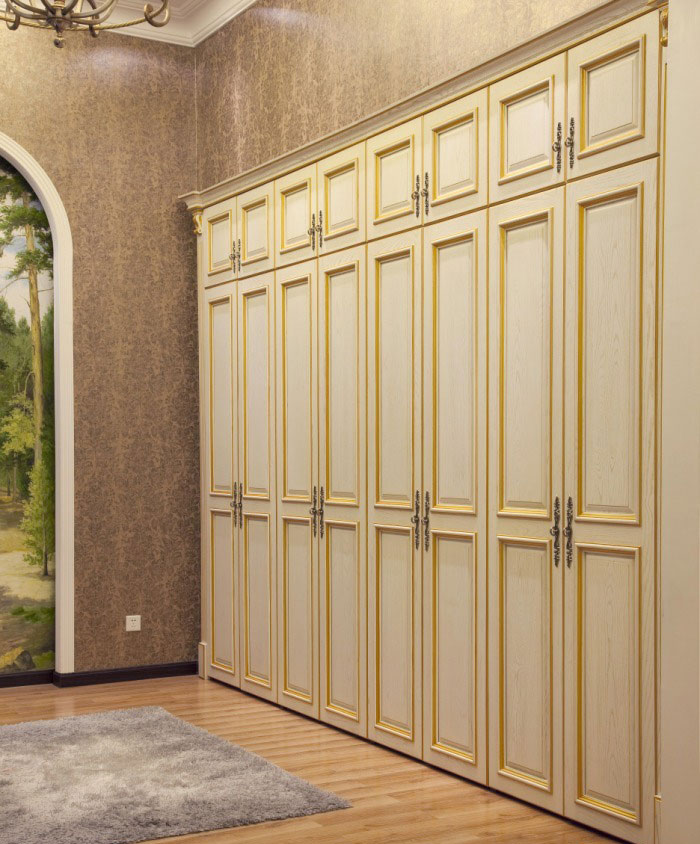 典雅高贵欧式风格  韩丽欧式整体衣柜效果图