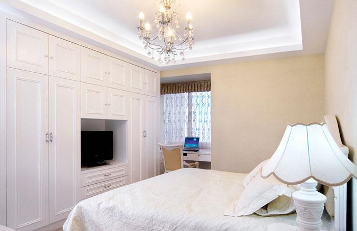 卧室装修效果图大全 小户型卧室,简欧风格,清爽白色设计