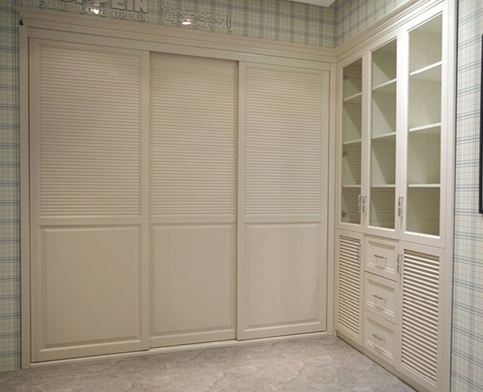 现代简约百叶衣柜设计图 纯净典雅风范