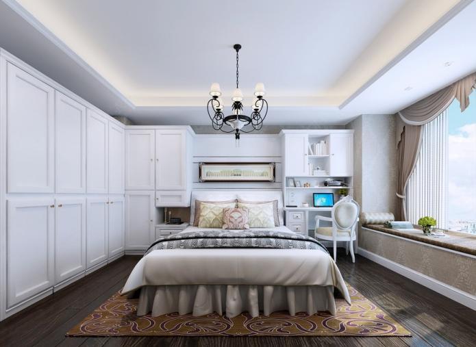 简欧时尚卧室衣柜效果图 干练型女人首选 高清图片