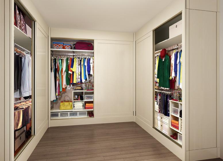 现代简约衣帽间效果图 大户型白色衣柜设计图