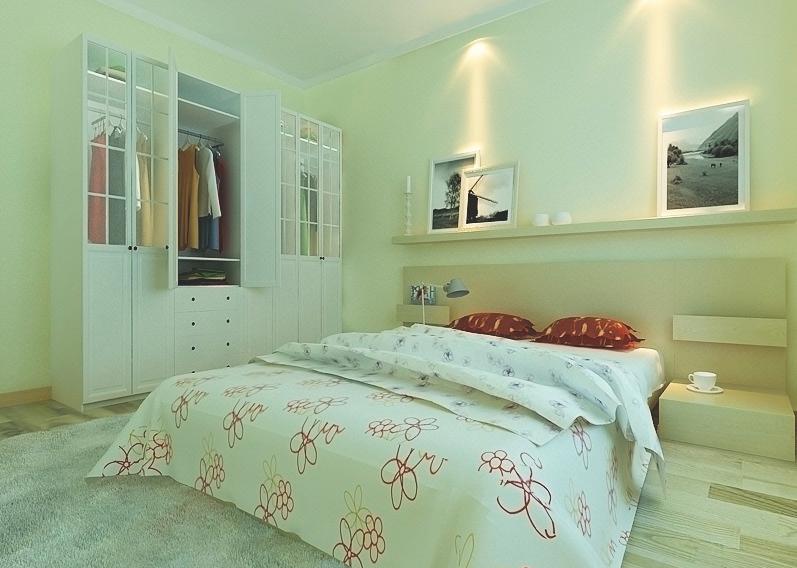 单身公寓整体衣柜效果图 极简清新时尚