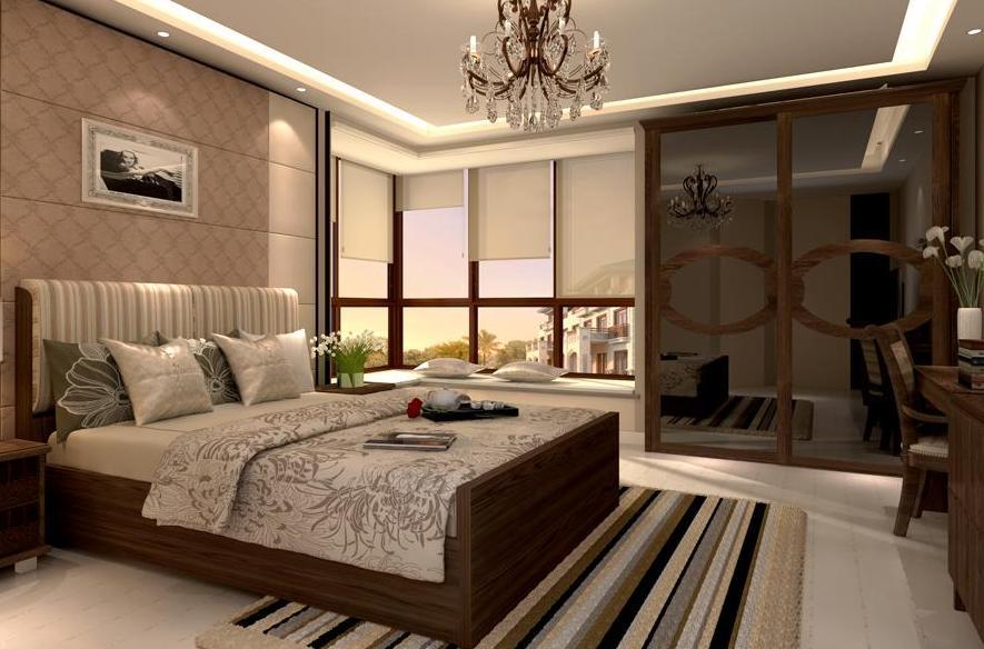 个性混搭主卧装修图 时尚卧室装修效果图